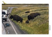 Bison Disrupting Traffic Carry-all Pouch