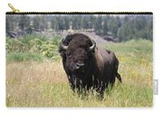 Bison In Grass Carry-all Pouch