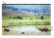Bison In The Meadow Carry-all Pouch