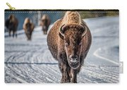 Bison In The Road - Yellowstone Carry-all Pouch