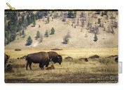 Bison With Calf Carry-all Pouch