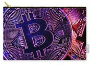 Bitcoin Coins In A Mysterious Lighting Carry-all Pouch
