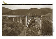 Bixby Creek Aka Rainbow Bridge Bridge Big Sur Photo  1937 Carry-all Pouch