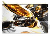 Black Amber Abstract Carry-all Pouch