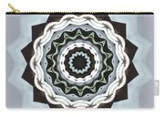 Black And Blue Mandala Carry-all Pouch