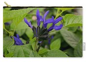 Black And Blue Salvia Carry-all Pouch