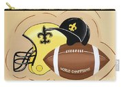 Black And Gold Champs Carry-all Pouch