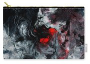 Black And Red Abstract Painting  Carry-all Pouch
