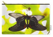 Black And Red Butterflies Carry-all Pouch