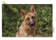 Black And Red German Shepherd Dog Carry-all Pouch