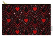 Black And Red Hearts Carry-all Pouch