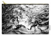 Black And Silver Carry-all Pouch
