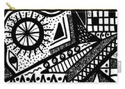 Black And White 15 Carry-all Pouch