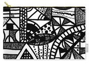 Black And White 16 Carry-all Pouch