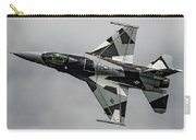 Black And White 18th Aggressor Sqn Viper Topside Against The Grey Carry-all Pouch