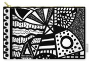 Black And White 19 Carry-all Pouch