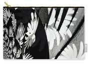 Black And White Abstract Floral Carry-all Pouch