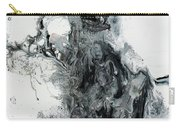 Black And White Abstract Painting  Carry-all Pouch