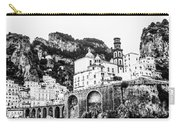 Black And White Amalfi Carry-all Pouch