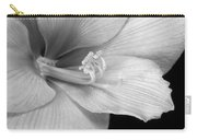 Black And White Amaryllis Bloom Carry-all Pouch