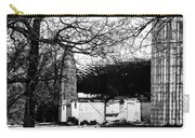Black And White Barn And Silo Carry-all Pouch