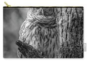 Black And White Barred Owl Carry-all Pouch