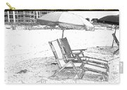 Black And White Beach Chairs Carry-all Pouch