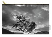 Black And White Beautiful Landscape Image Of Llyn Padarn At Sunr Carry-all Pouch
