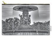 Bedesta Statue Black And White  Carry-all Pouch