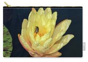 Black And White Beetle On Yellow Pond Lily Carry-all Pouch