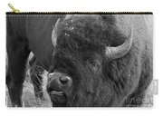 Black And White Bison In Heat Carry-all Pouch
