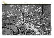 Black And White Blossoms Carry-all Pouch