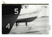 Black And White Boat Reflection Carry-all Pouch