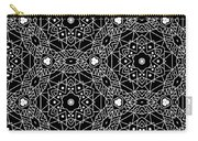 Black And White Boho Pattern 3- Art By Linda Woods Carry-all Pouch by Linda Woods