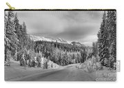 Black And White Bow Valley Parkway - Winter Carry-all Pouch