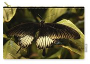 Black And White Butterfly Carry-all Pouch