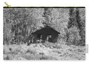 Black And White Cabin Carry-all Pouch