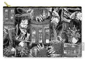 Black And White Collage Carry-all Pouch