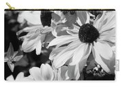 Black And White Coneflowers Carry-all Pouch