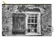 Black And White Cottage Window Carry-all Pouch