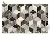 Black And White Cubes Carry-all Pouch