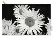 Black And White Daisy 3 Carry-all Pouch
