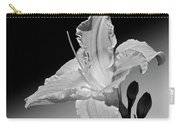 Black And White Daylily Carry-all Pouch