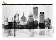 Black And White Detroit Carry-all Pouch