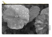 Black And White Dewy Pansy 1 Carry-all Pouch