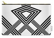 Black And White Diamond Carry-all Pouch