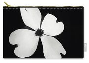Black And White Dogwood Bloom Carry-all Pouch