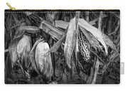 Black And White Ear Of Corn On The Stalk Carry-all Pouch