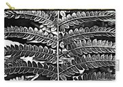 Black And White Fern Carry-all Pouch