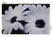 Black And White Floral Art Carry-all Pouch